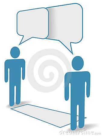 Social people chat across communication distance