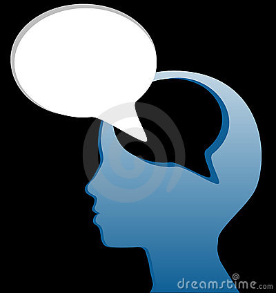Social think speak mind speech bubble cut out
