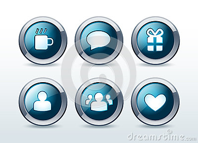 Social and web communication icons set