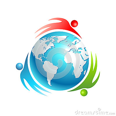 Social world icon. Concept vector people