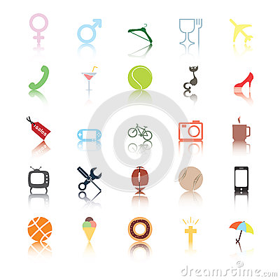 Sociala symboler. Folket intresserar.