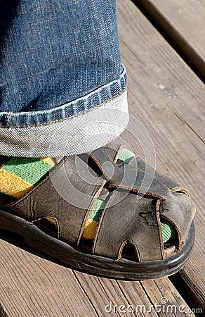 Free Sock And Sandal Stock Image - 2071521