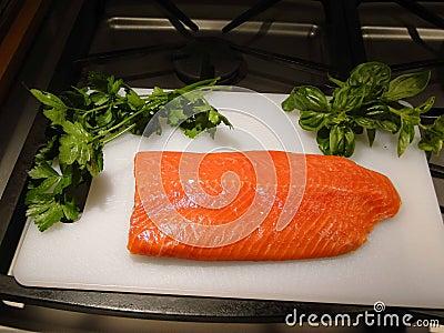Sockeye salmon fillet