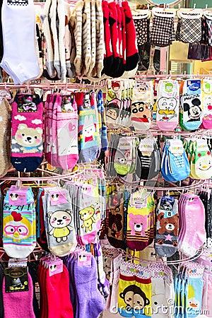 Socks Retail Editorial Stock Image