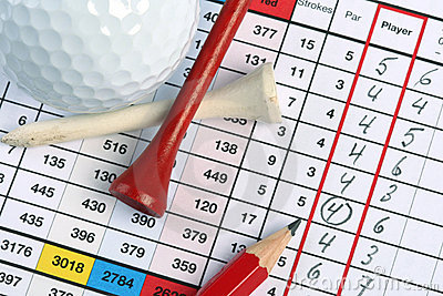 Socrecard de golf avec la birdie