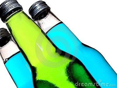 Soda Bottles on an Angle