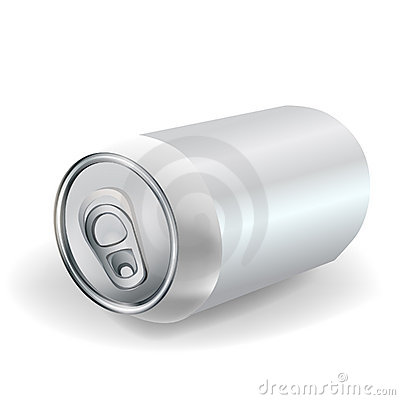 Soda can perspective isolated