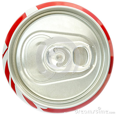 soda can top view stock photo image 43796185