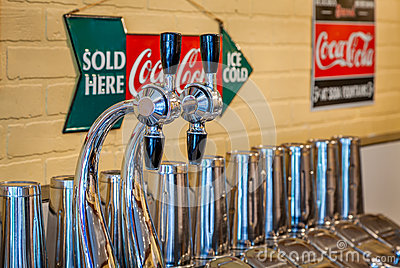 Soda Fountain Editorial Photo