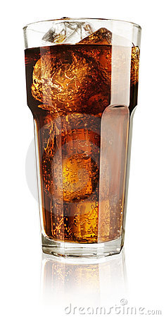 Soda in a glass