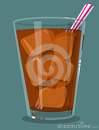 Soda with ice