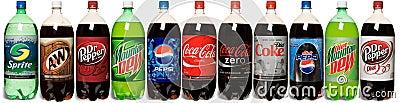 Soda Lineup Editorial Photo