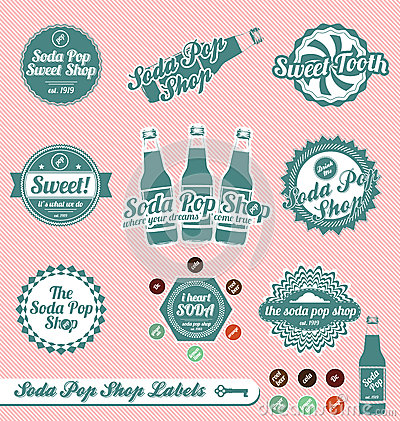 Soda Pop Labels and Stickers