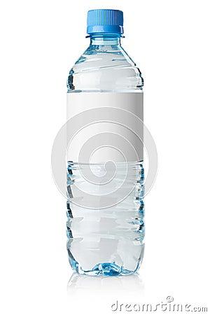 Soda water bottle with blank label