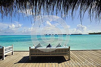 Sofa on beach