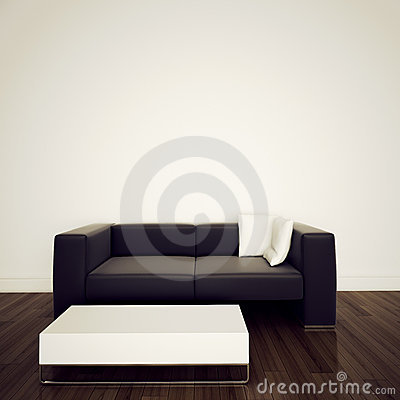 Free Sofa In Modern Interior With 3d Rendering Stock Photo - 18182250