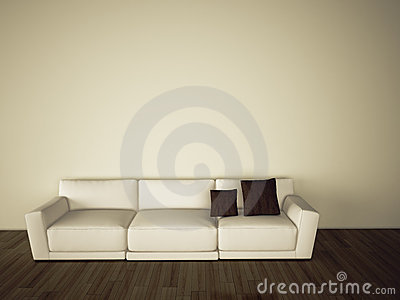 Sofa in modern comfortable interior