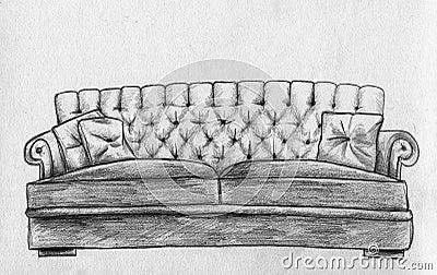 Sofa - pencil sketch