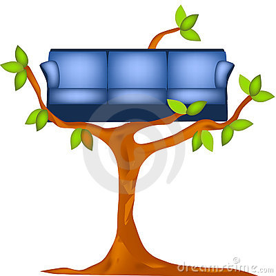 sofa on tree