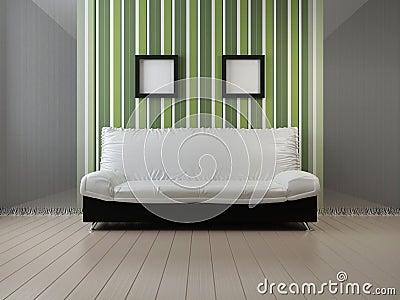 Sofa at a wall