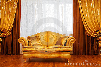 Sofa at a window
