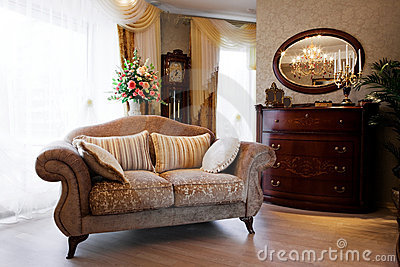 Sofa At A Window Royalty Free Stock Image - Image: 9024106