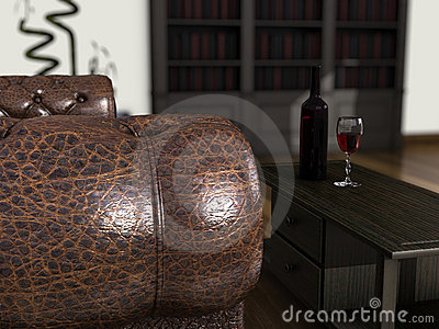 Sofa and Wine