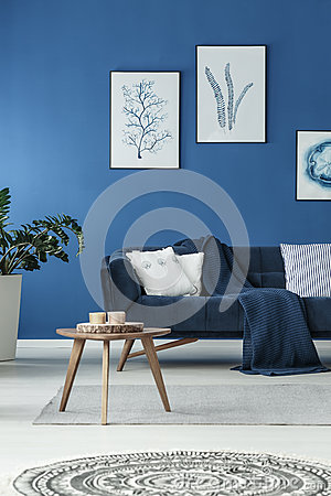 Free Sofa With Blanket Royalty Free Stock Image - 90876276