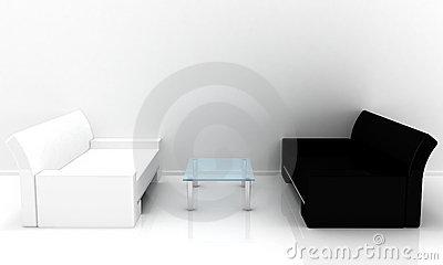 Sofas with table