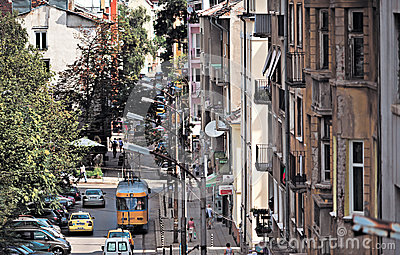 Sofia Bulgaria general street view Editorial Stock Image