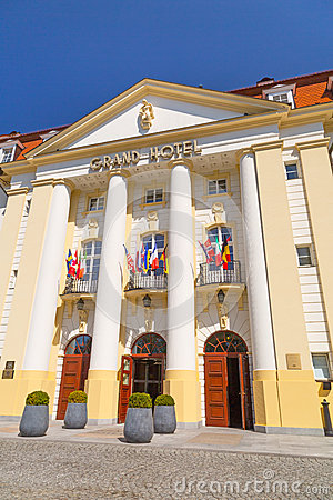 Sofitel Grand Hotel in Sopot, Poland Editorial Stock Image