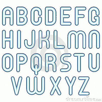 Soft blue cold child funny bubble fonts
