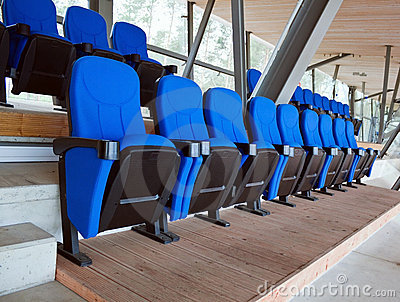 Soft chairs in row