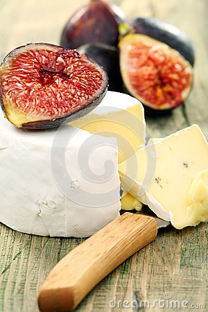 Soft cheese with figs.