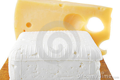 Soft delicacy cheeses on board