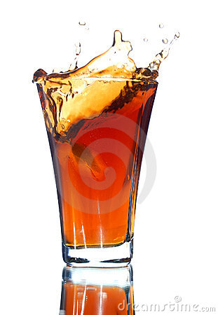 Free Soft Drink With A Splash Stock Images - 5723714