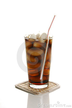 Free Soft Drink With A Straw Royalty Free Stock Images - 12601049