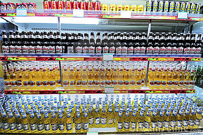 Soft drinks,beer Editorial Stock Photo