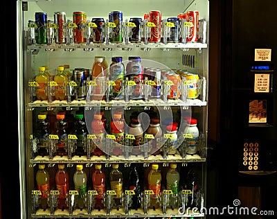 Soft drinks vending machine Editorial Stock Photo