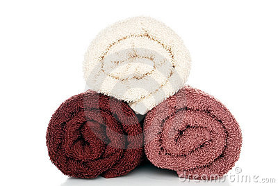 Soft and Fluffy Brown and Cream Cotton Bath Towels