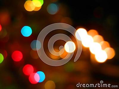 Soft focus background lights