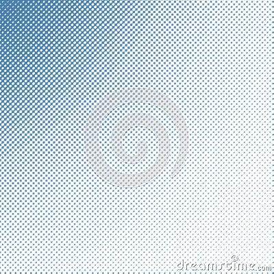 Soft focus halftone blue