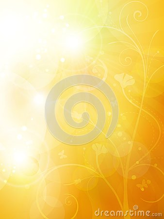 Soft golden, sunny summer or autumn background