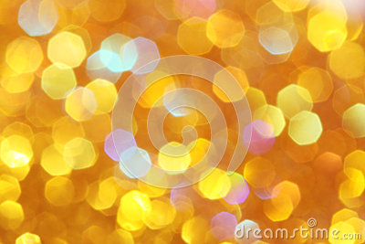 Soft lights orange, gold background Yellow, turquoise, orange, red abstract bokeh Stock Photo