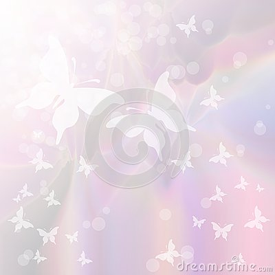 Free Soft Pastel Background With Swarm Of Butterflies Stock Photos - 49300593