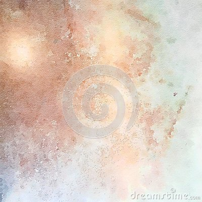 Free Soft Pastel Grungy Abstract Watercolor Background In Blue And Brown Stock Images - 68583704