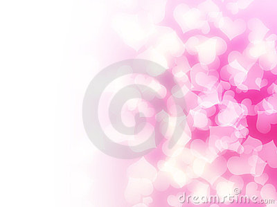 Soft pink love hearts background
