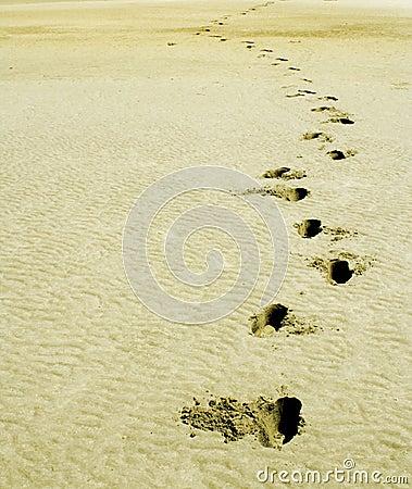 Soft sand footprint on The World, Dubai