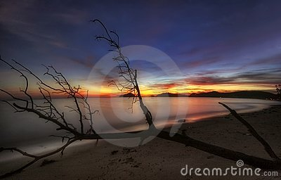 Soft sunset of Koh Mak