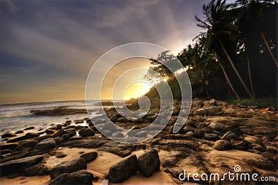 Soft sunset of Phuket